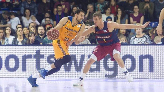 Pablo Aguilar en el FC Barcelona Lassa - Herbalife Gran Canaria