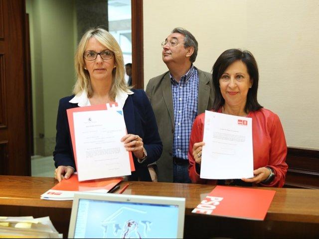 Robles y Mercè Perea presentan en el Congreso iniciativas parlamentarias
