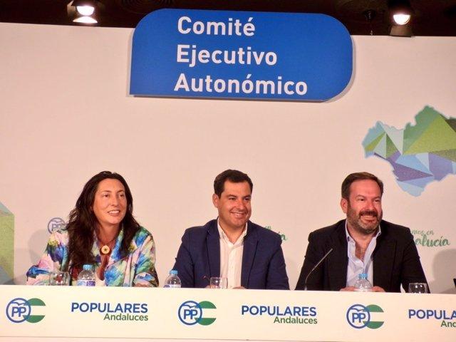 El presidente del PP-A, Juanma Moreno, en el Comité Ejecutivo Autonómico