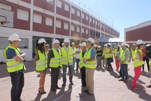 Visita a las obras del CEIP Reggio en Puerto Real