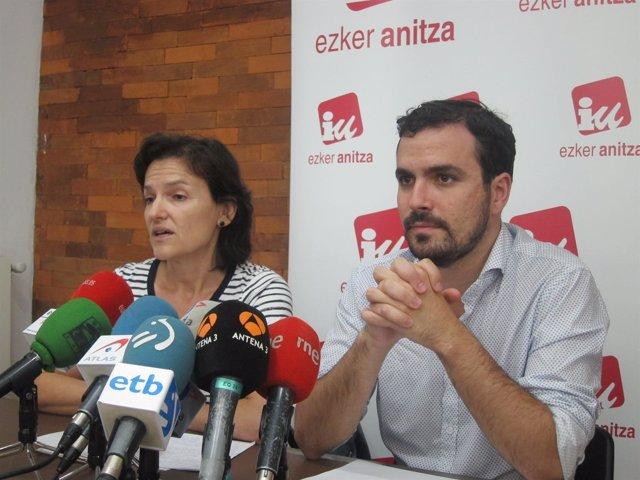 Isabel Salud y Alberto Garzón
