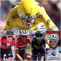 Froome, Porte, Contador, Quintana y Bardet, aspirantes al Tour 2017