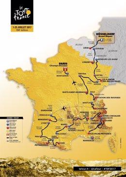 Recorrido del Tour de Francia 2017