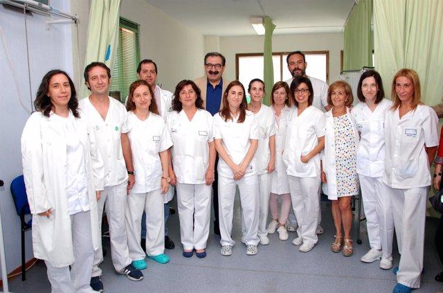 El consejero en el hospital de Talavera