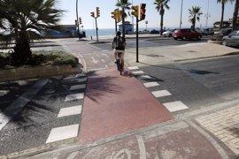 Ayuntamiento de Málaga pide a la Junta la concesión del dominio público para un tramo de carril bici del paseo marítimo