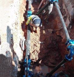 Imágenes de los técnicos de Global Omnium/Aguas de Valencia