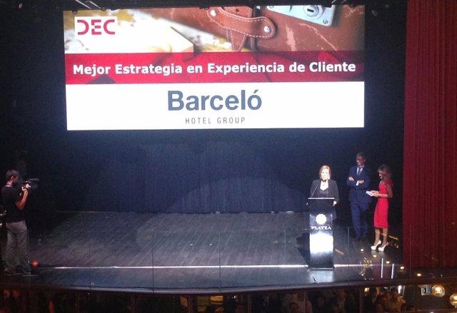 Barceló Hotel Group gran un premio de experiencia de cliente