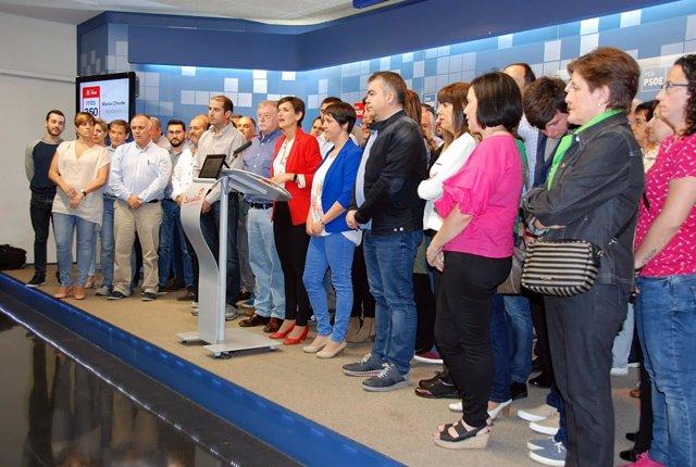 María Chivite presenta su proyecto a la Secretaría General del PSN