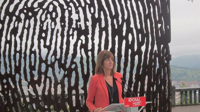 Idoia Mendia, secretaria general del PSE y candidata a la reelección