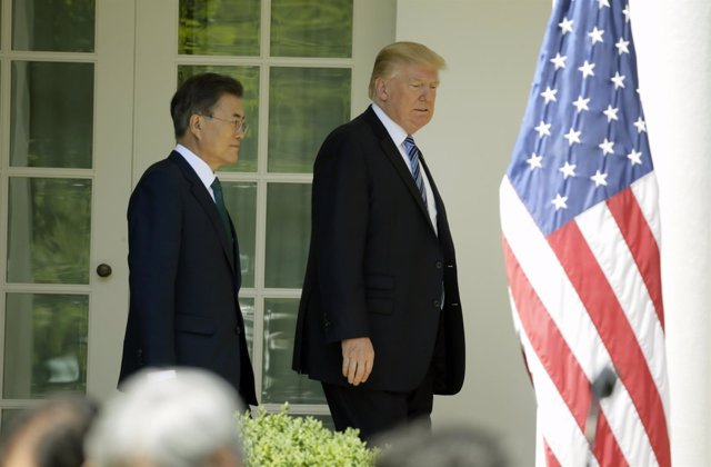 Donald Trump  y Moon Jae-in