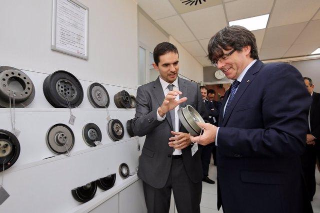 El pte.C.Puigdemont en el 50 aniversario de AAM Powertrain Barcelona