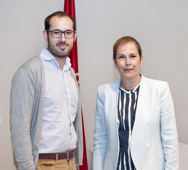 La presidenta Barkos con Roberto Díez-Martínez