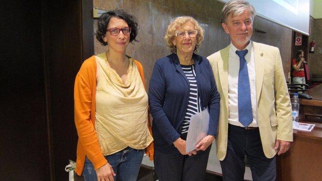 Elena Giner, Manuela Carmena Y Pedro Santisteve