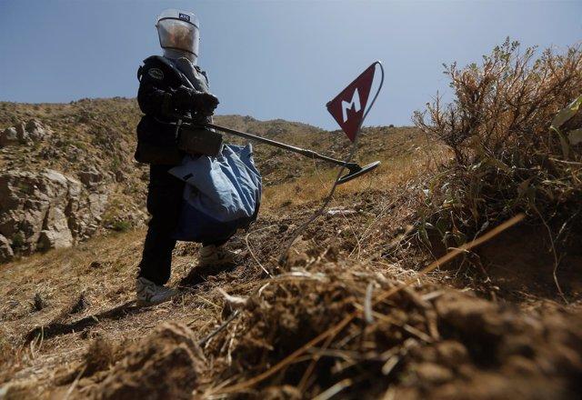Desminado en Afganistán