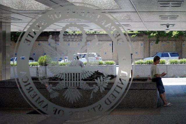 Logo del Departamento de Estado de Estados Unidos.