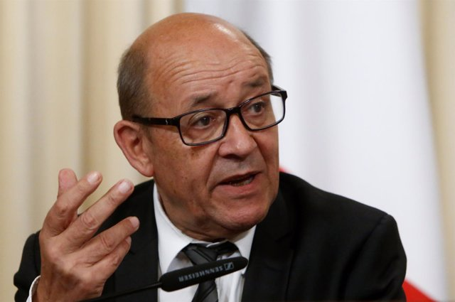 El ministro de Asuntos Exteriores de Francia, Jean-Yves Le Drian.