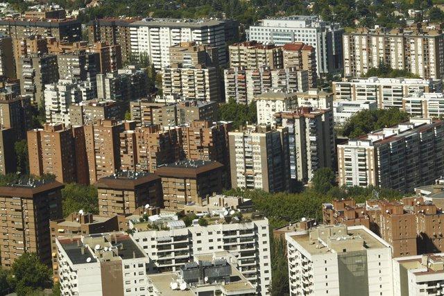 Edificios   vistos desde el aire