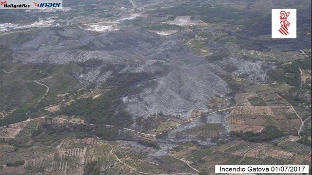 Imagen captada por el helicóptero V-1 a primera hora de la mañana