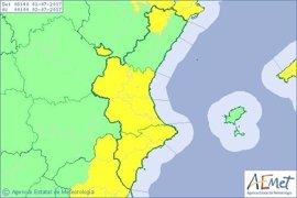 Julio arranca con riesgo de tormentas en Valencia y Alicante y peligro extremo de incendios en Valencia y Castellón