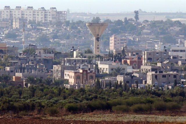 Torre de agua en Gaza