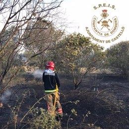 El fuego quemó una hectárea de matorral