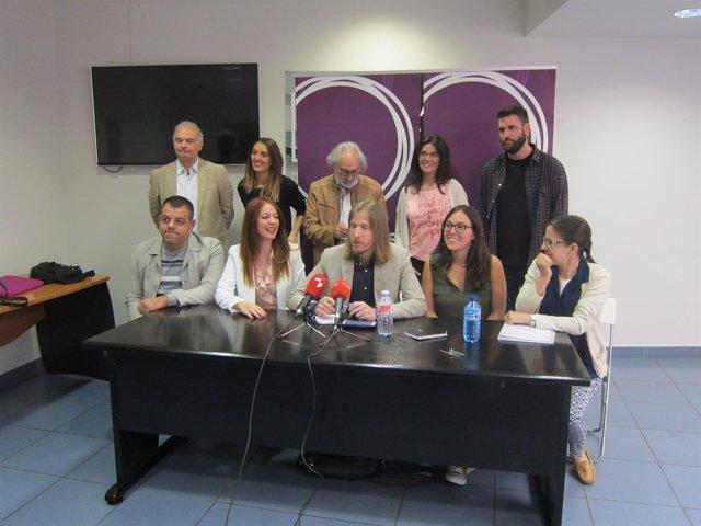 Valladolid. Presentación de la nueva ejecutiva de Podemos CyL