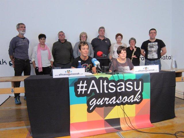 Familiares de los detenidos por la agresión en Alsasua