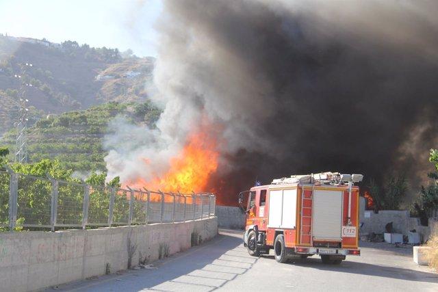 Incendio en Almuñécar (Granada)
