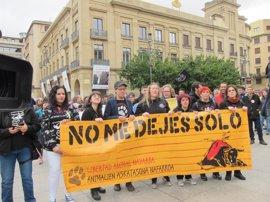 """Una manifestación pide en Pamplona """"el fin de la tauromaquia"""""""
