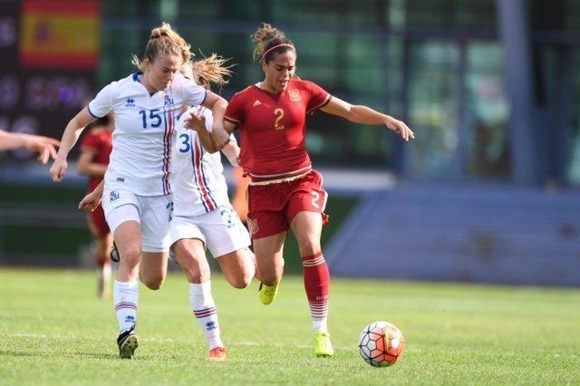 España - Islandia de fútbol femenino