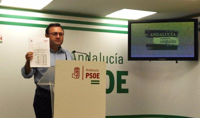 El secretario provincial del PSOE Málaga, Miguel Ángel Heredia
