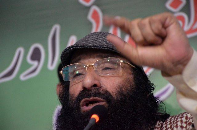 El líder del grupo separatista cachemir Hizbul Muyahidín, Syed Salahuddin