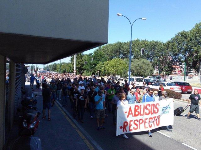 Protesta en Vigo