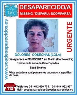 Desaparecida en Marín