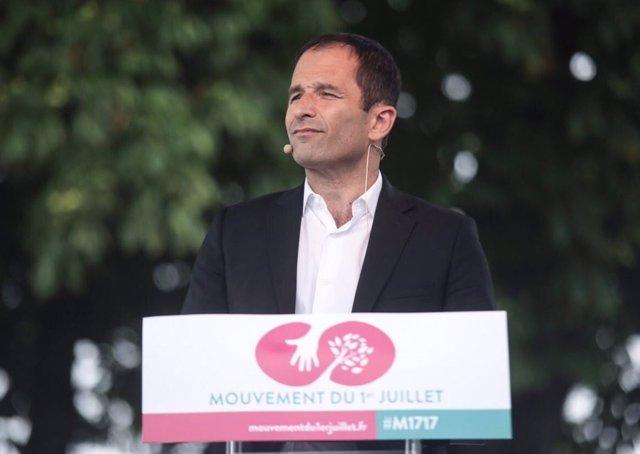 El líder del Movimiento del Primero de Julio, Benoît Hamon