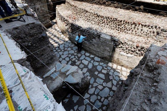Hallada una cancha de juego de pelota azteca en el centro de Ciudad de México