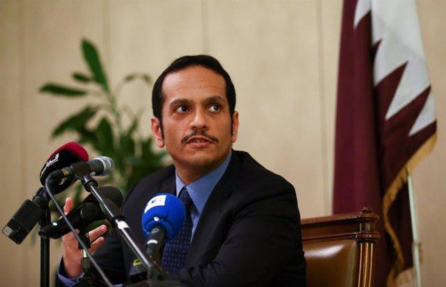 El ministro de Exteriores qatarí, el jeque Mohamed bin Abdulrahman al Thani