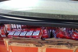 Intervenidas 11.500 cajetillas de tabaco de contrabando en San Roque (Cádiz)