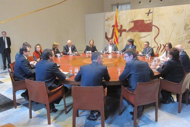 Consell Executiu del Govern de la Generalitat de Carles Puigdemont y consellers