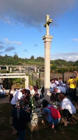 Homenaje de las víctimas de Angrois