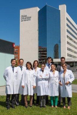 Equipo investigador de la Clínica Universidad de Navarra y el CIMA