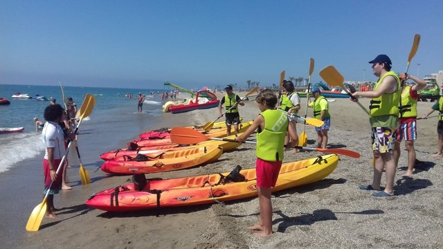 Los participantes en el Paida han disfrutado de actividades acuáticas.