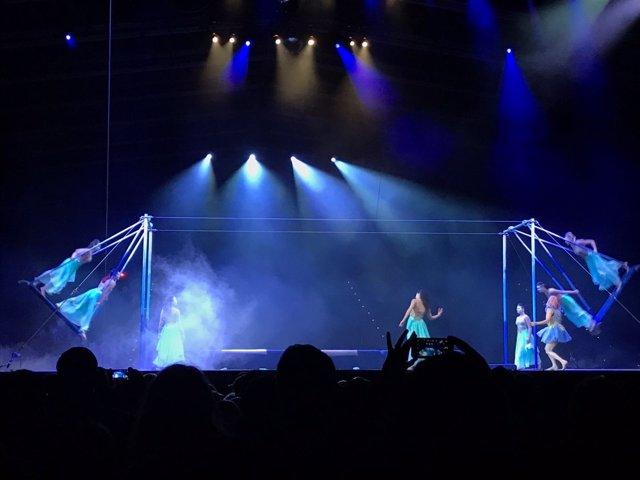 Representación de Escalada Estelar del Cirque du Soleil en Andorra