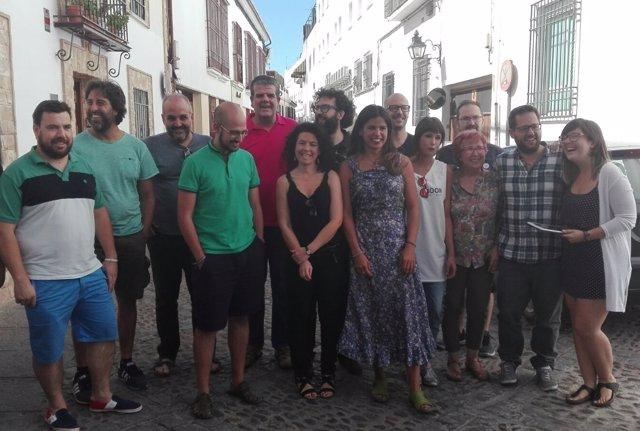Teresa Rodríguez con miembros del Consejo Ciudadano Andaluz de Podemos