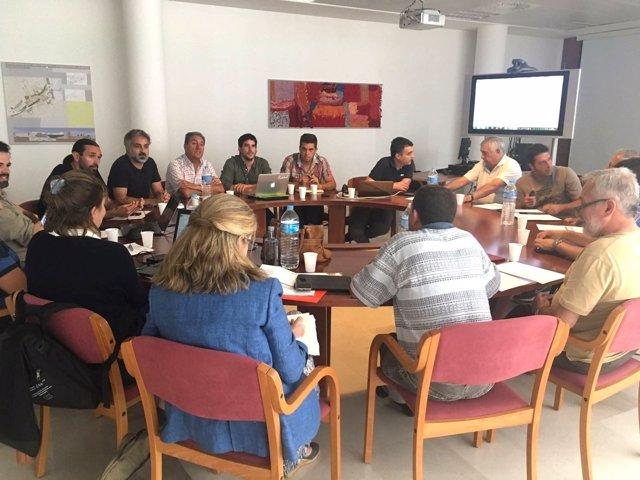 Reunión de investigadores y expertos colaboradores del proyecto.