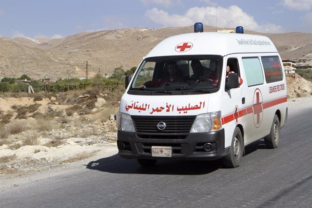 Ambulancia en Líbano