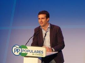 Pablo Casado (PP) ofrecerá el próximo martes en Córdoba una conferencia sobre 'El futuro de España'