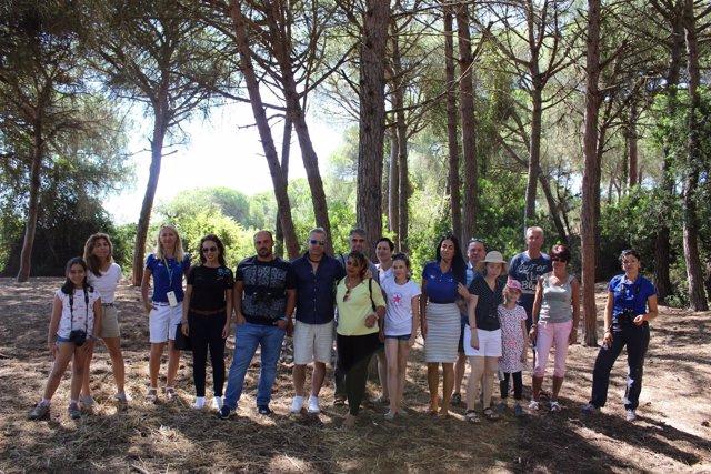 Visita de un grupo de 40 turistas al Parque Nacional de Doñana