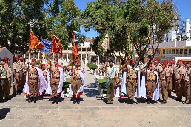 Homenaje en Melilla a las Fuerzas Regulares Indígenas