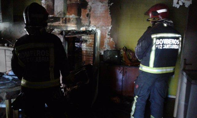 Incendio en una vivienda de Reinosa